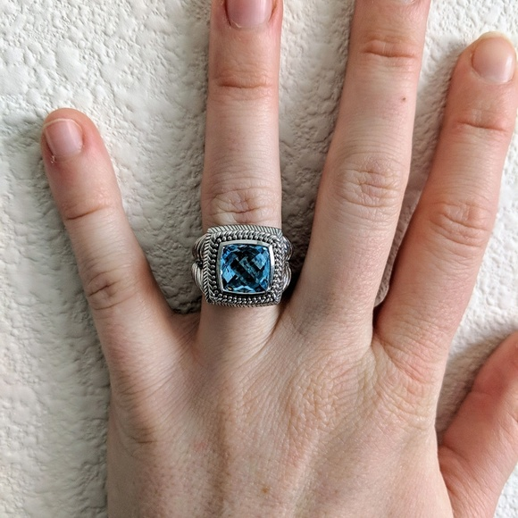 3965a1c43 Judith Ripka Jewelry | Size 7 Sterling Silver Blue Ring | Poshmark